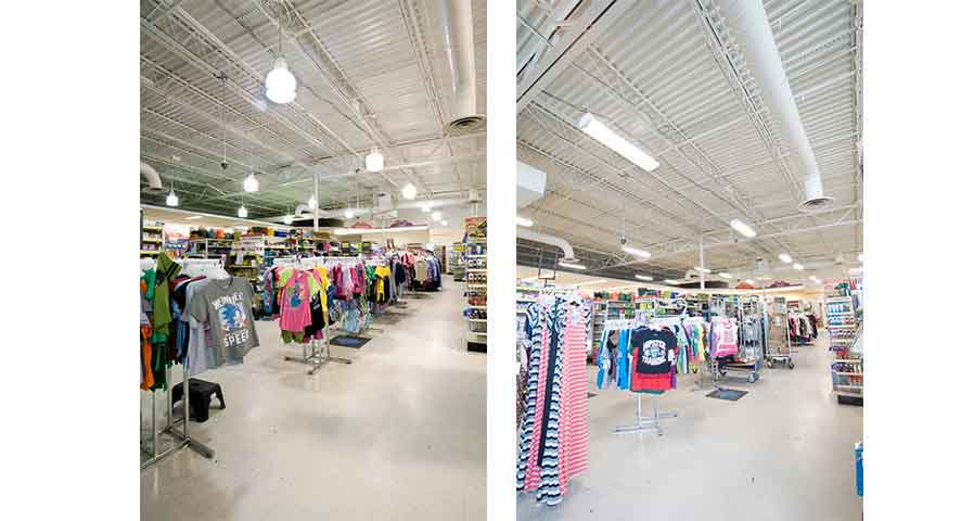 Before and After of an Interior LEd Retrofit - Is an LED Retrofit Right for You - in Blog Image